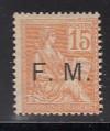Frankreich Militär Feldpost Mi. Nr. 1 *  Auftruck F.M.
