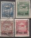 Sowjetunion Mi. Nr. 267 - 270 o  Flugpostmarken 1924