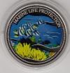 Palau 1$ Farbmünze 2005  Wimpelfische