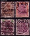 DR Mi. Nr. 154 - 157 I o Freimarken Germania mit Aufdruck
