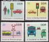DDR Mi. Nr. 1444 - 1447 ** Sicherheit i. Stra�enverkehr