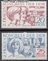DDR Mi. Nr. 1474 - 1475 ** Frauenkongre�