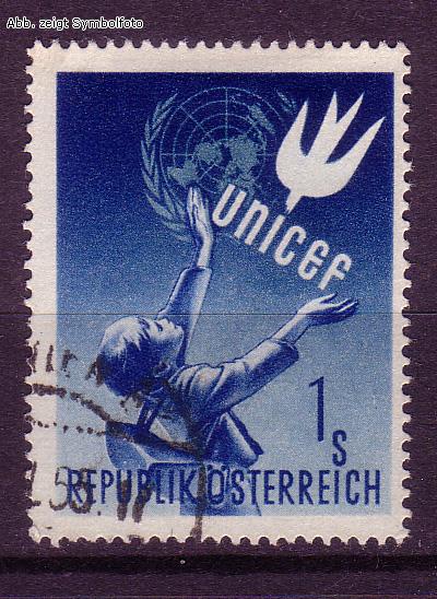 briefmarken sterreich michel nr 933 unicef 1949 gestempelt g nstig kaufen im briefmarken. Black Bedroom Furniture Sets. Home Design Ideas