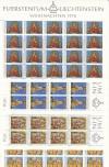 Liechtenstein Kleinbogen Mi. Nr. 662 - 665 ** Weihnachten 1976