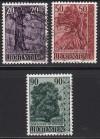 Liechtenstein Mi. Nr. 377 - 379 Bäume und Sträucher III o