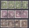 Dänemark Mi. Nr. 131 - 142 o  Dänische Post