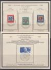 Bund Mi. Nr. 113 - 115 und 116 auf Sonderblatt mit Sonderstempel