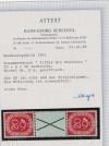 Bund seltene Posthornzusammendruck S 6 ** mit Attest