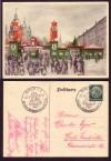 Postkarte Weihnachtsmarkt Berlin 1936 coloriert ( K 29 )