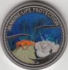 Palau 1$ Farbmünze 2003  Krabbe