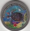 Palau 1$ Farbmünze 1998  Wasserschildkröte