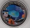 Palau 1$ Farbmünze 2005  Blaupunktrochen