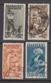 Saargebiet Mi. Nr. 122 - 125 o  Volkshilfe 1927
