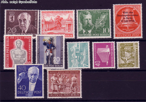briefmarken berlin 1954 jahrgang postfrisch 1954 berlin briefmarken jahrgang postfrisch. Black Bedroom Furniture Sets. Home Design Ideas