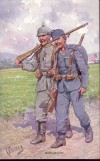 Feldpostkarte I. Weltkrieg Waffenbr�der (F6)
