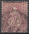 Schweiz Mi. Nr. 35 Sitzende Helvetia 50 C o