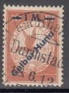 DR Mi. Nr. IV o Flugpostmarke gelber Hund