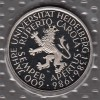 Bundesrepublik 5 DM M�nze in Noppenfolie stg 1986 Uni Heidelberg