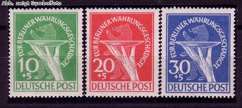 briefmarken berlin 1949 michel nr 68 70 postfrisch w hrungsgesch digtensatz g nstig kaufen im. Black Bedroom Furniture Sets. Home Design Ideas