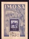 Saarland Sonderkarte IMOSA 1952 ( K 10 )