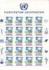 Liechtenstein Kleinbogen Mi. Nr. 1015 ** Beitritt VN