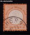 DR Mi. Nr. 15 o orange - kleines Brustschild 2 Kr