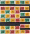 DDR Zusammendr. v. Mi. 1012 - 1013 Messe 1964 kompl. 16 Zdr. **