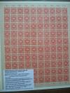 SBZ Ostsachsen Mi. Nr. 60 a ** orangegelb 12 Pfennig Ganzbogen