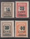 Memelgebiet Mi. Nr. 234 I - 237 I ** geprüft Angliederung an Litauen